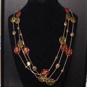 Jewelry - Yellow orange three strand necklace